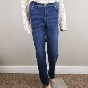 ✿❀ INC Dark Wash Boot Leg Jeans Plus Size 18 ❀✿